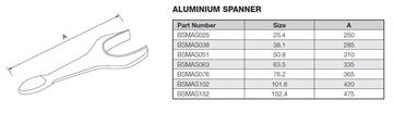 Picture of 38.1 BSM ALUMINIUM SPANNER
