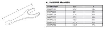 Picture of 76.2 BSM ALUMINIUM SPANNER