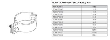 Picture of 101.6 OD IHC PLAIN CLAMP 304