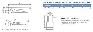 Picture of LOCKING HANDLE CF8M TO SUIT BUTTERFLY VALVE SIZE 101.6
