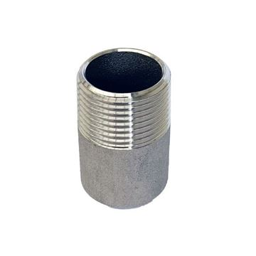 Picture of R10 BSP THREADED ONE END NIPPLE 30mm LONG 316