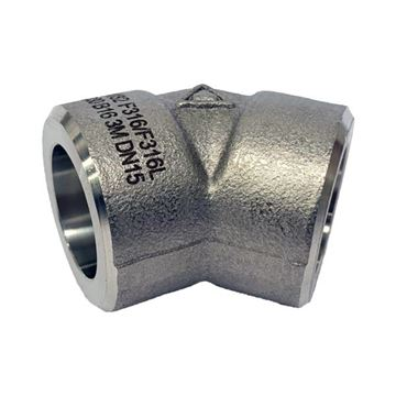 Picture of 40NB CL3000 SOCKETWELD 45D ELBOW 304/304L