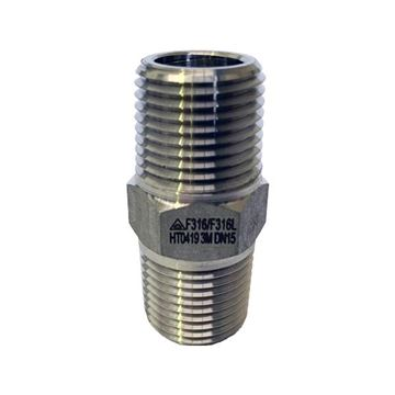 Picture of 40NPT CL3000 HEXAGON NIPPLE 316