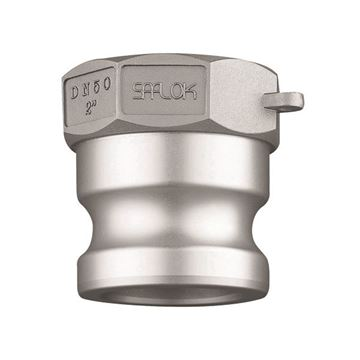 Picture of 20 MALE X 20NPT FEMALE TYPE A SAFLOK ADAPTOR CF8M