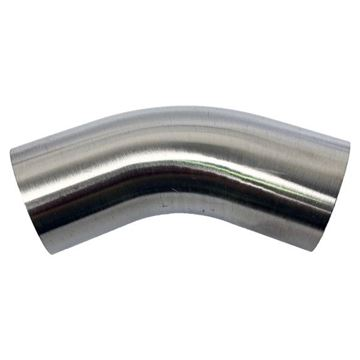Picture of 101.6 OD X 1.6WT 45D POLISHED ELBOW 316