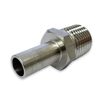 Picture of 12.7MM OD X 15BSPT ADAPTER MALE GYROLOK 316