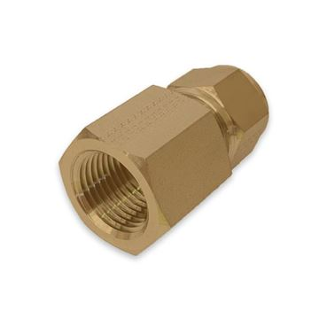 Picture of 9.5MM OD X 8NPT CONNECTOR FEMALE GYROLOK BRASS