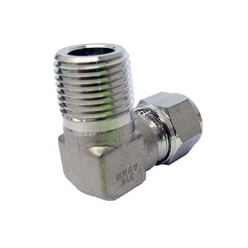 Picture of 10.0MM OD X 15NPT 90D ELBOW MALE GYROLOK 316