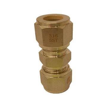 Picture of 9.5MM OD UNION GYROLOK BRASS