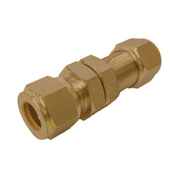 Picture of 12.7MM OD BULKHEAD UNION GYROLOK BRASS