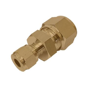 Picture of 19.1MM OD X 12.7MM OD REDUCING UNION GYROLOK BRASS