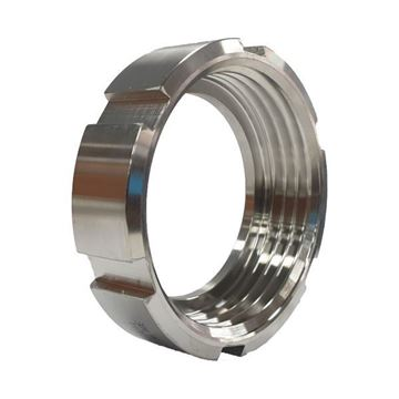 Picture of 38.1 BSM ROUND SLOTTED NUT CF8