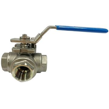 Picture of Rc25 BSP 3-WAY T-PORT REDUCED BORE BALL VALVE 800WOG CF8M