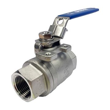 Picture of Rc10 BSP 2-PIECE FULL BORE BALL VALVE 1000WOG CF8M