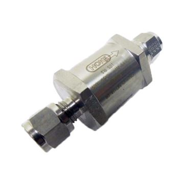 Picture of 12.7 OD TUBE 6000PSI POPPET CHECK VALVE 1PSI CRACKING BUNA-N SEAT 316 HOKE