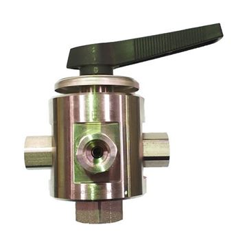 Picture of 8NPT FEMALE 2000PSI BALL VALVE 4-WAY 316 MULTIMITE TRUNNION STYLE