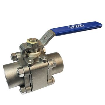 Picture of 20NPT FEMALE 2500PSI HOKE BALL VALVE 38.0Cv 3-PCE BOLTED BODY /BOLTING/HANDLE 316