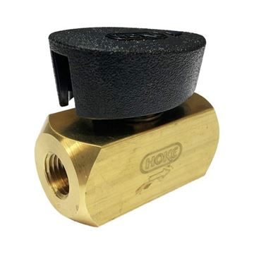 Picture of 8NPT FEMALE 3000PSI PLUG VALVE BAR STOCK BRASS