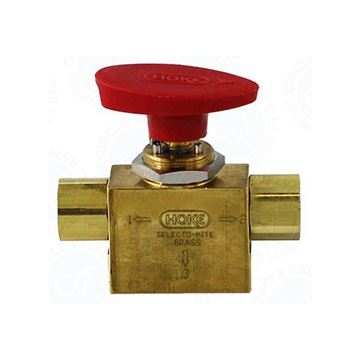 Picture of 8NPT FEMALE 500PSI BALL VALVE 3-WAY BRASS SELECTOMITE