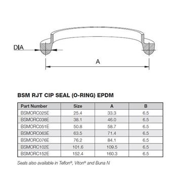 Picture of 25.4 BSM CIP EPDM ORing
