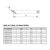 BSM EPDM Oring Dimensions