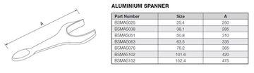 Picture of 25.4 BSM ALUMINIUM SPANNER