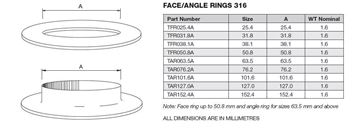 Picture of 152.4 OD ANGLE RING 316