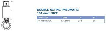 Picture of PRECISION ACTUATOR PNEUMATIC DA SUIT 101.6MM BUTTERFLY VALVE C/W MOUNT KIT