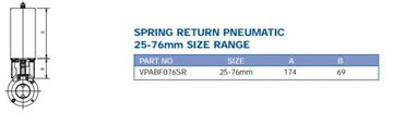Picture of PRECISION ACTUATOR PNEUMATIC S/RETURN SUIT 25-76MM BUTTERFLY VALVE C/W MOUNT KIT