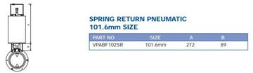 Picture of PRECISION ACTUATOR PNEUMATIC SPRING RETURN SUIT 101.6MM BUTTERFLY VALVE